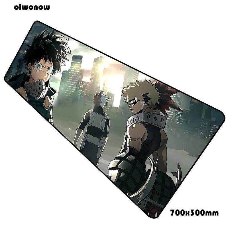 my hero academia mouse pad 70x30cm gaming mousepad anime gadget office notbook desk mat laptop padmouse games pc gamer mats Malaysia