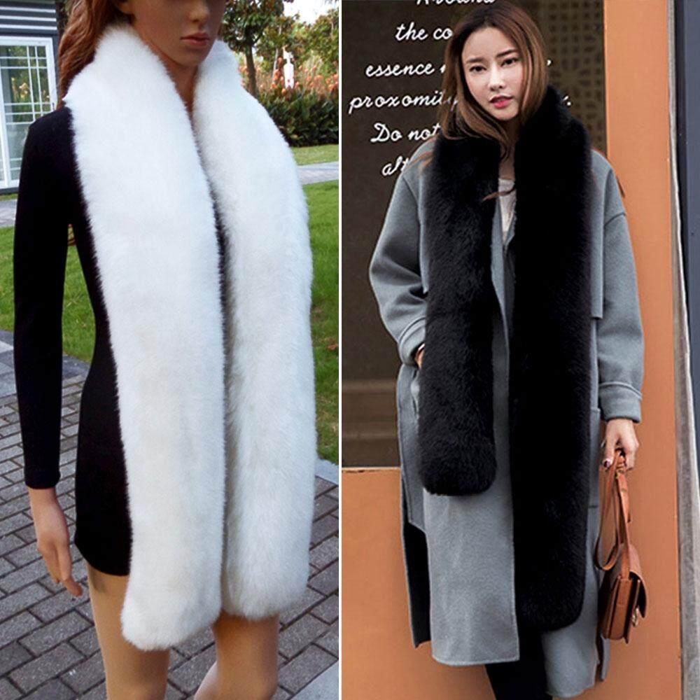 Giá bán Mùa đông Ấm Lông Dài Khăn Quàng Cổ Thời Trang Màu Dày Dài Khăn Choàng