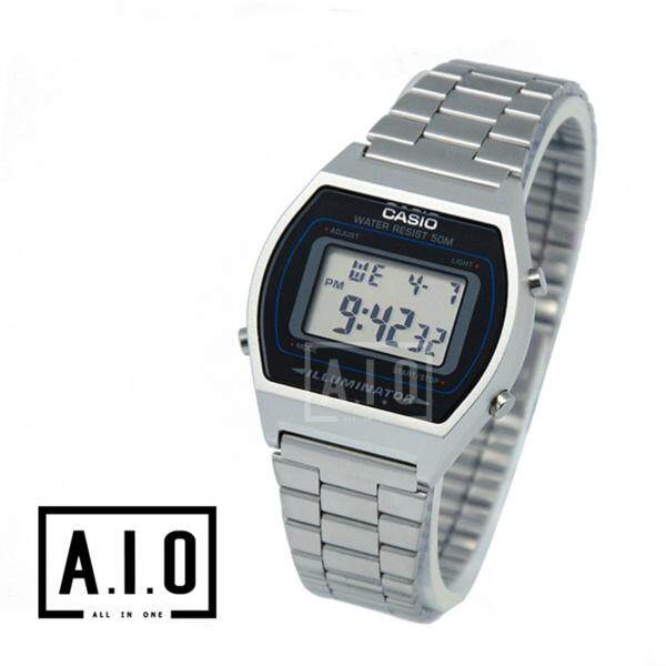 Casio Ladies Standard Digital Silver Stainless Steel Band Watch B640WD-1A Malaysia