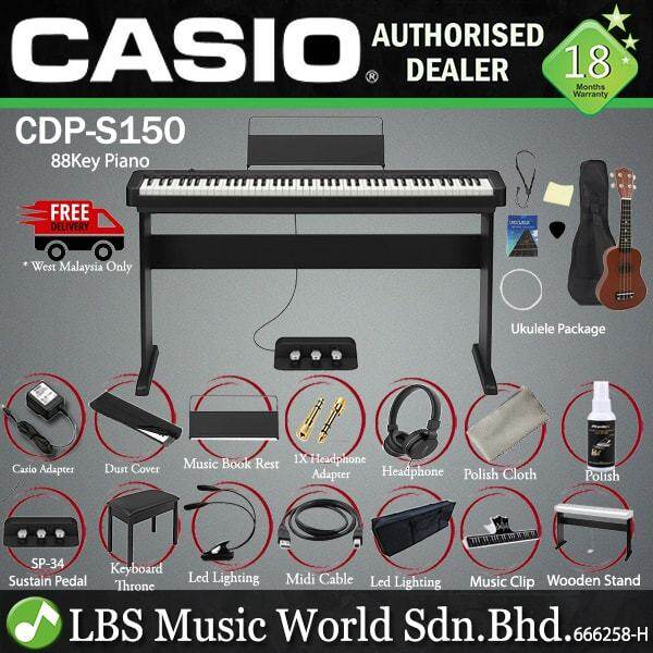 Casio CDP-S150 88 Keys Digital Piano Keyboard 3 Pedal Full Package Electric Keys (CDPS150) Malaysia