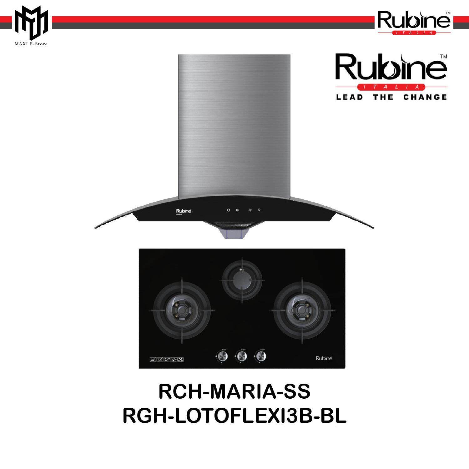 Rubine Estratto Series Designer Chimney Cooker Hood 1200m3 Hr H²meltz Built In
