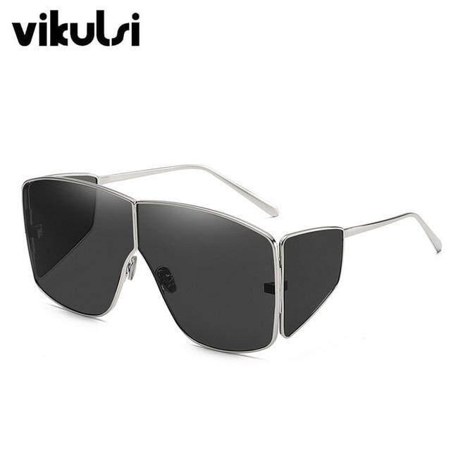 Unisex Fashion 2019 New Ladies Square Sunglasses Women Goggle Shades Vintage Brand Designer Oversized Sun Glasses For Female