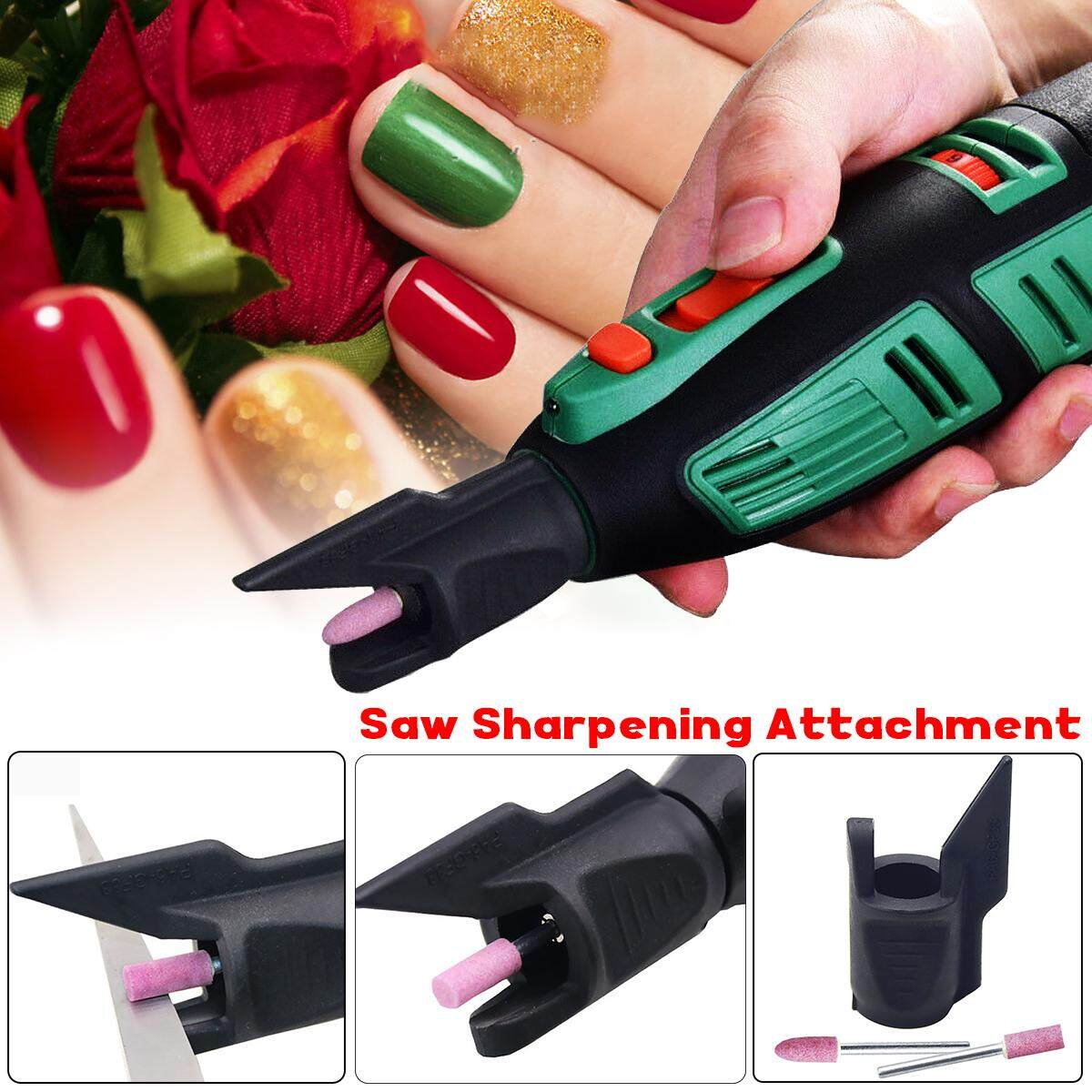 Sharpening Attachment Electric Rotary Power Drill Adapter Grinding Polishing Bit