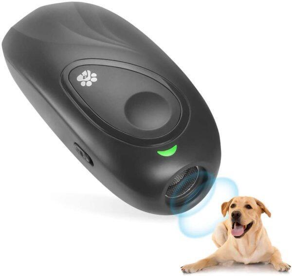Ngăn chặn chó sủa siêu âm, Thiết bị kiểm soát chống sủa, thuốc chống chó huấn luyện 2 trong 1 với 16.4 ft W/dây đeo cổ tay chống tĩnh điện đèn LED cho biết đi dạo an toàn ngoài trời cho chó