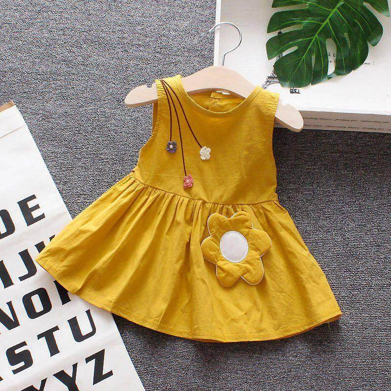 New Summer Baby Girl Dress Baby Girl Sleeveless Flower Princess Dress Child Sweet Casual Dress By Ropalia Store.