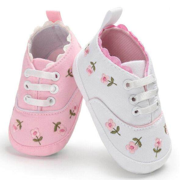 sugarbabies Bé Sơ Sinh Bé Gái Đế Mềm Cũi Cho Bé Mùa Hè Dễ Thương Hoa Giày Sneaker giá rẻ