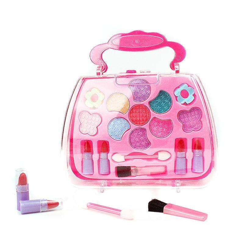 b45ada962c49 idealhere Kids Little Girls Fashion Makeup Set Cosmetic Kit Eyeshadow Lip  Gloss Blushes