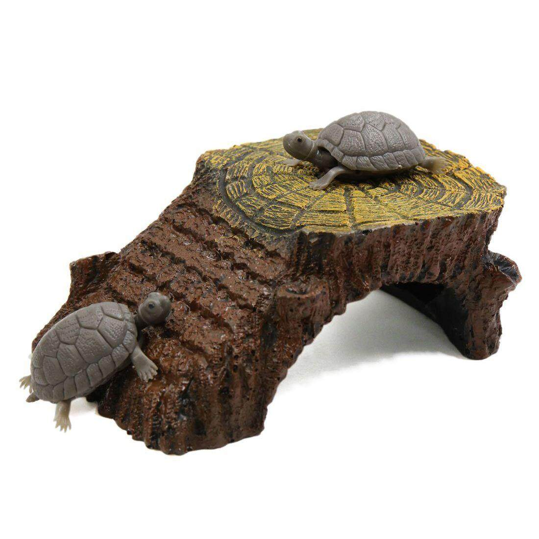 Ramp Mounted Resin Hut Habitat Landscape Aquarium For Aquatic Turtle Decoration By Superbuy888.