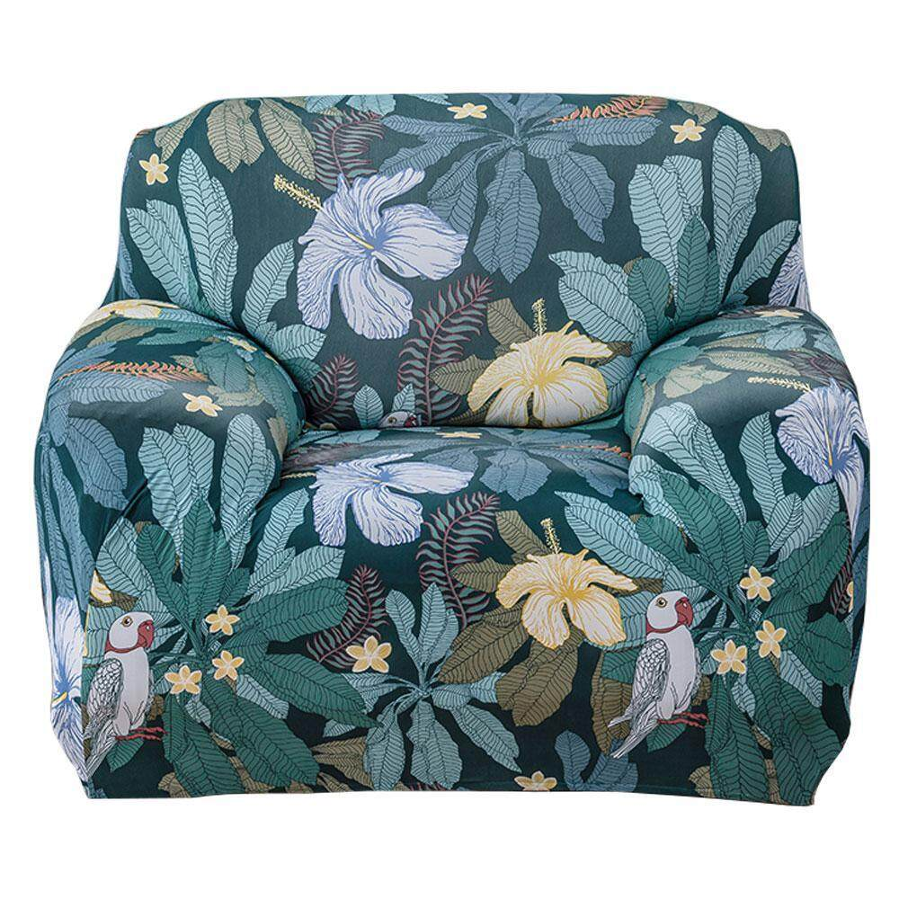 Lethen Sofa Cover Flower Print Cover Stretch 1,2,3,4 Seater Cover European Elastic Sofa Cover Sofa Protector Slipcovers