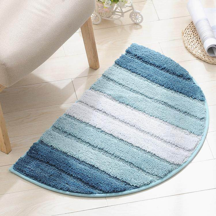 Half Round Non-Slip Kitchen Bedroom Toilet Doormat Floor Rug Mat Keeps your Floors Clean Circle Half Floor Mat Gradient Pattern Soft Touch Carpet For Home Bathroom Bedroom