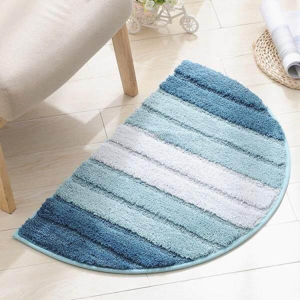 Half Round Non-Slip Kitchen Bedroom Toilet Doormat Floor Rug Mat Keeps your Floors Clean Circle Half Floor Mat Gradient Pattern Soft Touch Carpet For Home Bathroom Bedroom