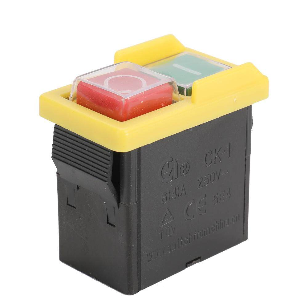 250V Universal CK1/250V Safety Switch Emergency Stop Safe Cut Off Killer Waterproof and Dustproof Switches Electromagnetic Switch for Grinding Machine