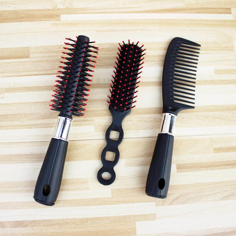 DLong 3 cái/bộ Tóc Chuyên Nghiệp Combo Bộ Dụng Cụ Salon Tóc Lược Bàn Chải nhập khẩu