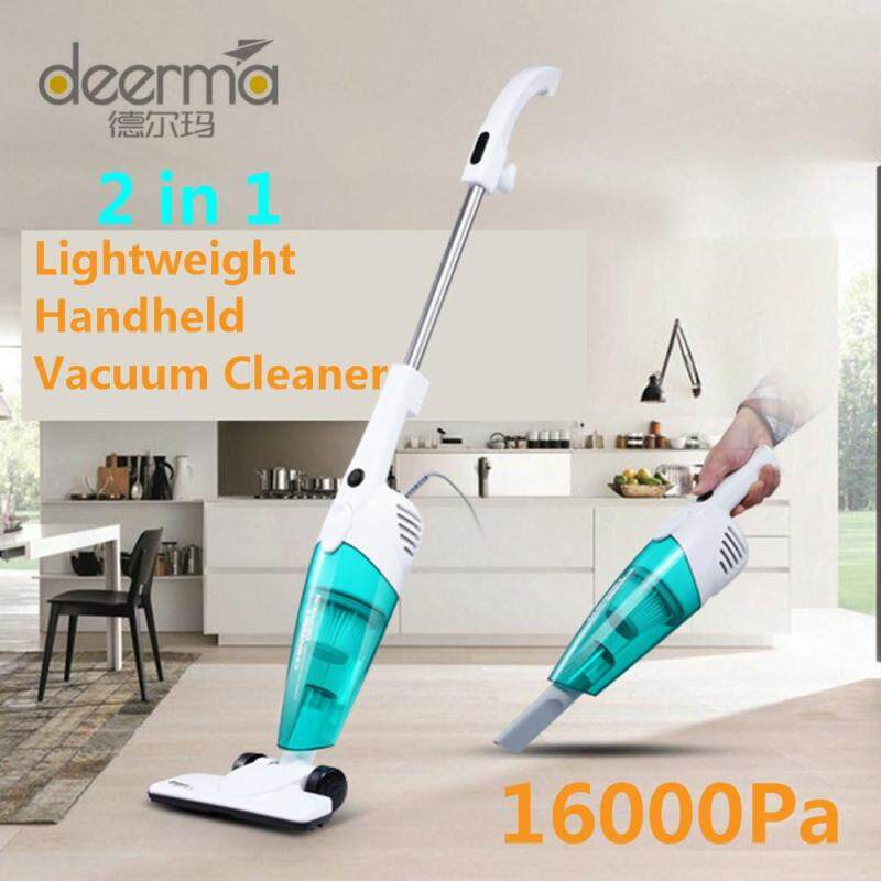 100% Original deerma DX118C  2 in 1 Lightweight and Portable Vacuum Cleaner 16000Pa Handheld Vacuum Cleaner With 3 cleaning brushes Singapore