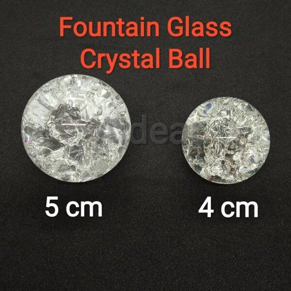 Water Fountain Crystal  Glass  Ball Water Feature  Accessories With Diameter 4cm/5cm 直径5厘米的喷泉水晶玻璃球水景配件