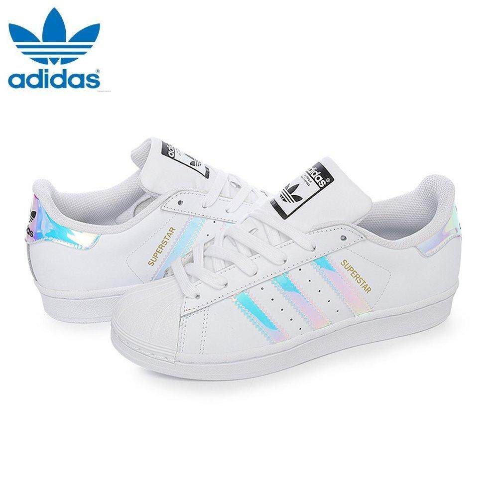 wholesale dealer 42298 82535 Adidas Originals Junior Superstar J Iridescent Hologram AQ6278 Fashion Shoes