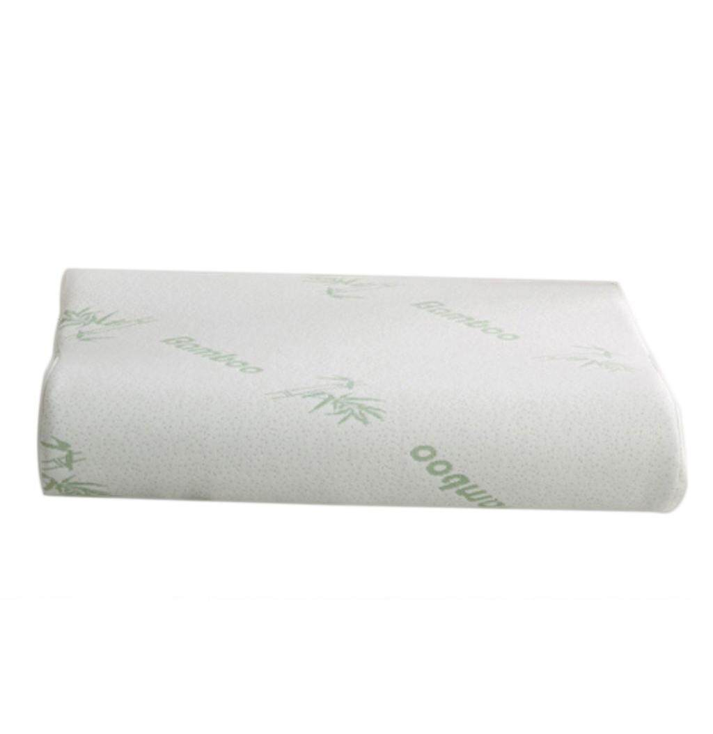 Soft Bamboo Memory Foam Rebound Contour Cervical Neck Sleep Care Travel Pillow