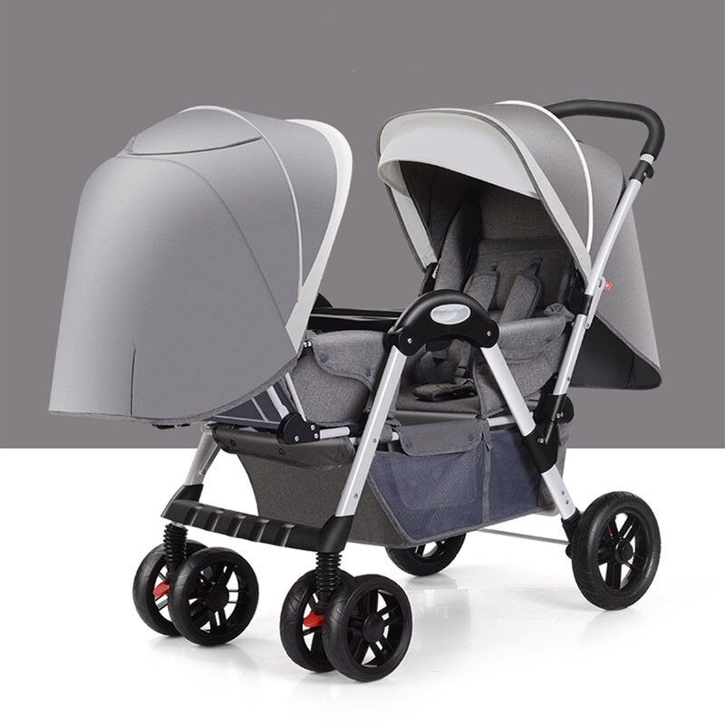 Baby twin strollers foldable face-to-face baby strollers pram + +Free Gift Singapore
