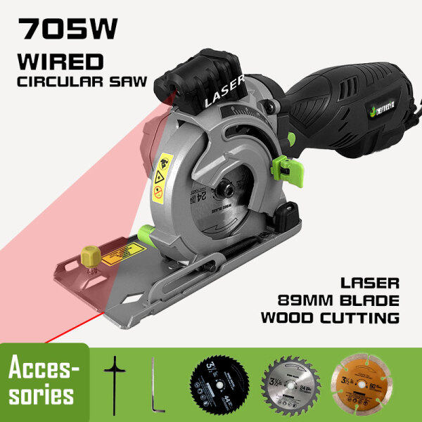 89mm Electric Mini Hand-held Wired 705w Circular Saw for Furniture Wood/PVC/TILE Tool