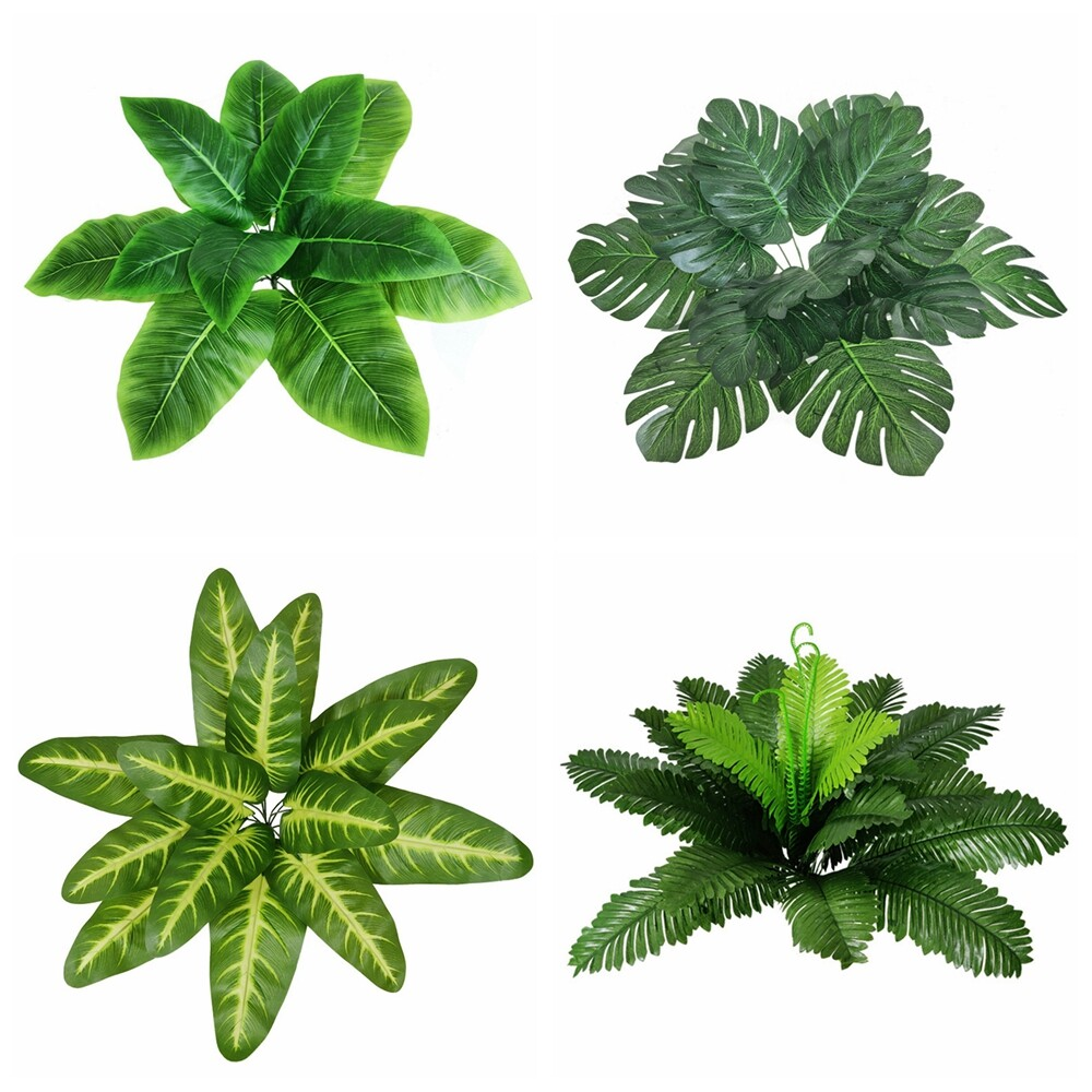 Supplies Green Palm Fronds Artificial Plant Leaves Cycas Bushes Turtle Leaf