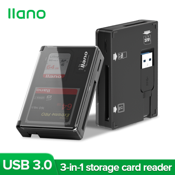 llano USB 3.0 High-speed Card Reader with Storage Function Supports SD, TF, Micro SD, CF and Other Memory Cards