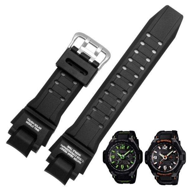 Black Replacement Band Strap Watch Accessories Silicone Watchband for Casio G Shock Ga 1000/1100 Gw 4000/A1100 G 1400 Malaysia