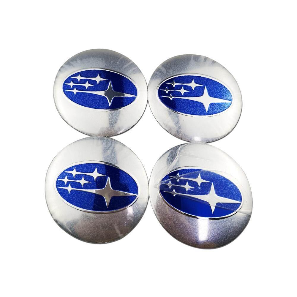 4PCS 56.5mm STI Sports Line Aluminum Car Wheel Center Hub Cap Stickers Emblems
