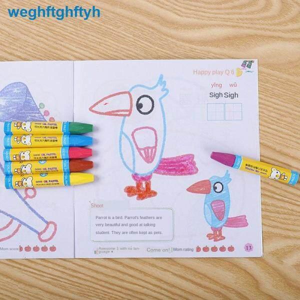 Mua Dầu Pastel 24 Màu 36 Bút Chì Màu Không Bẩn Bàn Chải Vẽ Tay Mẫu Giáo Học Sinh Bút Màu Không Độc Hại Đồ Dùng Nghệ Thuật
