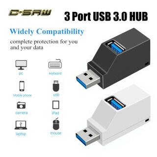 C-SAW 3 Cổng USB Hub Hub Mini USB 2.0 3.0 Tốc Độ Cao Splitter Hộp Đầu Đọc Thẻ Đĩa U Cho Máy Tính Xách Tay PC Trung Tâm Điện Thoại Di Động Cho iPhone Xiaomi thumbnail