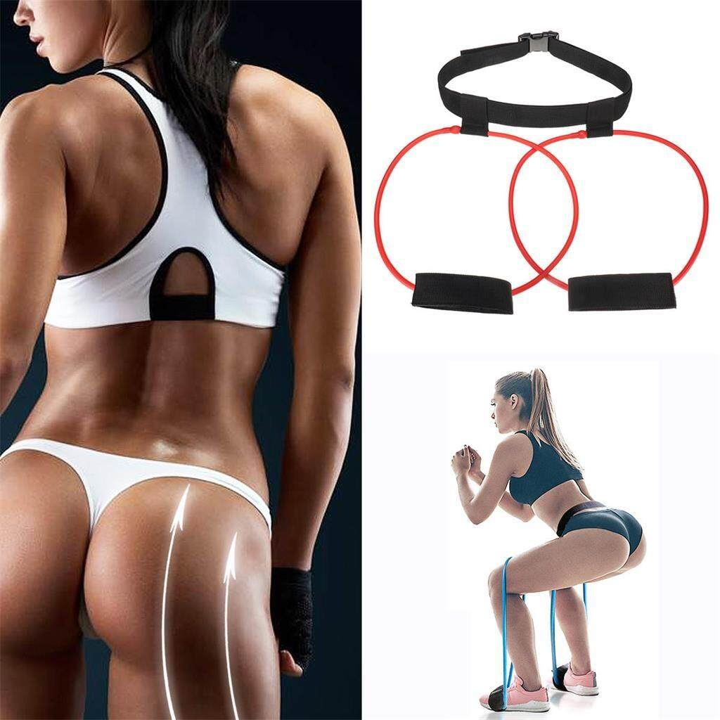 Women 30lb Hip Trainer Butt Booty Belt Band Body Glute Muscles Trainer Lifter Exercise