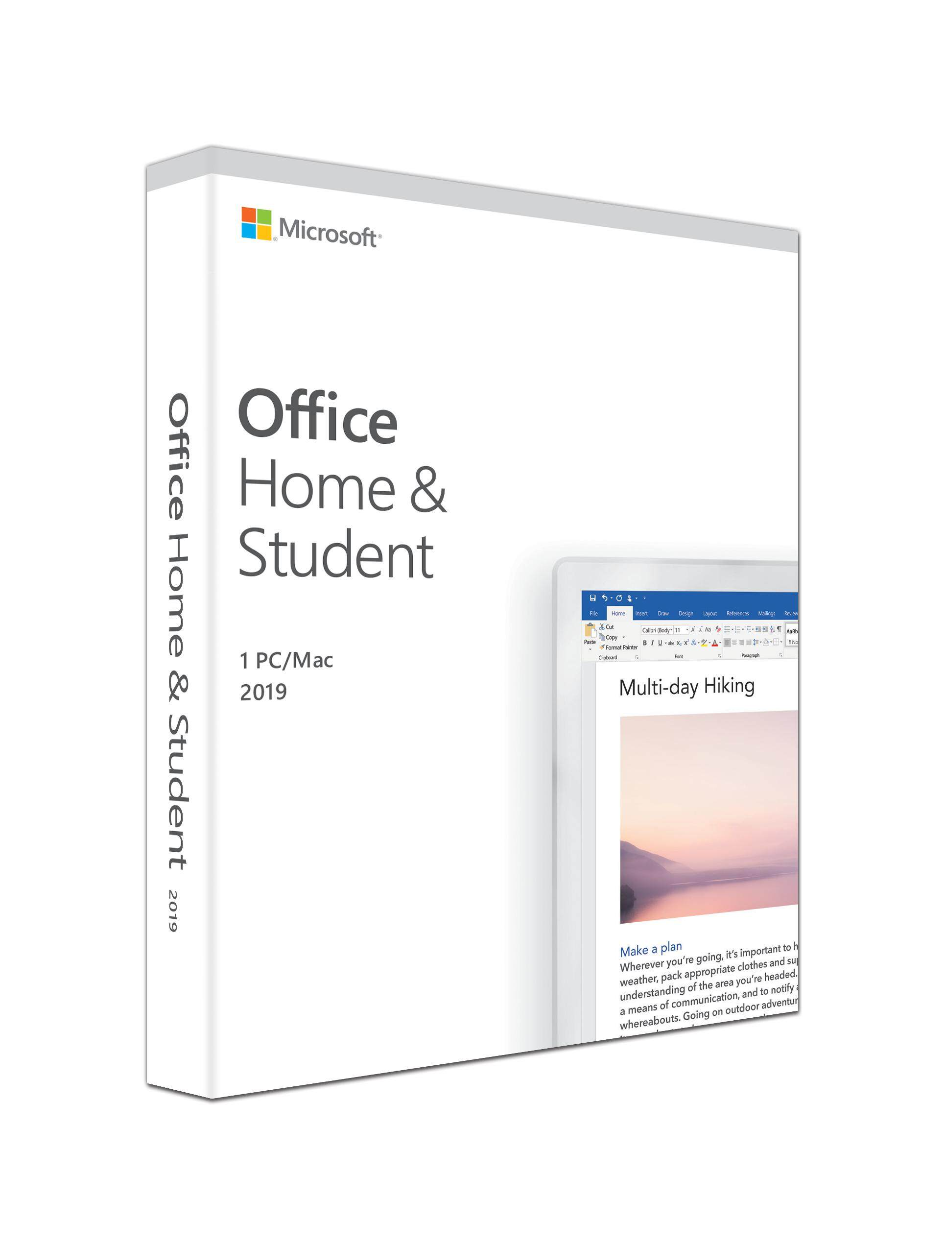 Microsoft Office Home & Student 2019 for 1 PC/Mac