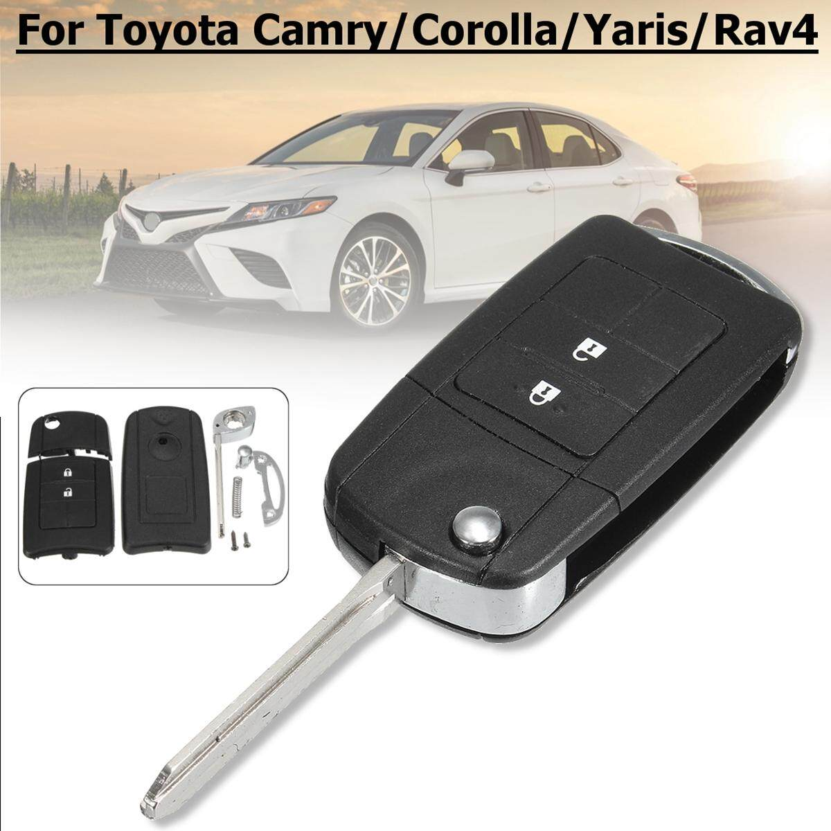 Replacement Key Case For 2 Buttons Toyota Camry Corolla RAV4 Yaris Without Blade