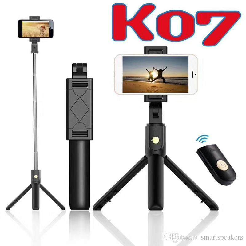 K07 Selfie Stick (2in1) Foldable Tripod with Bluetooth for All Smartphone