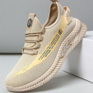 EG Men s shoes new breathable fly woven casual sports shoes men s running shoes trend all-match tide shoes thumbnail
