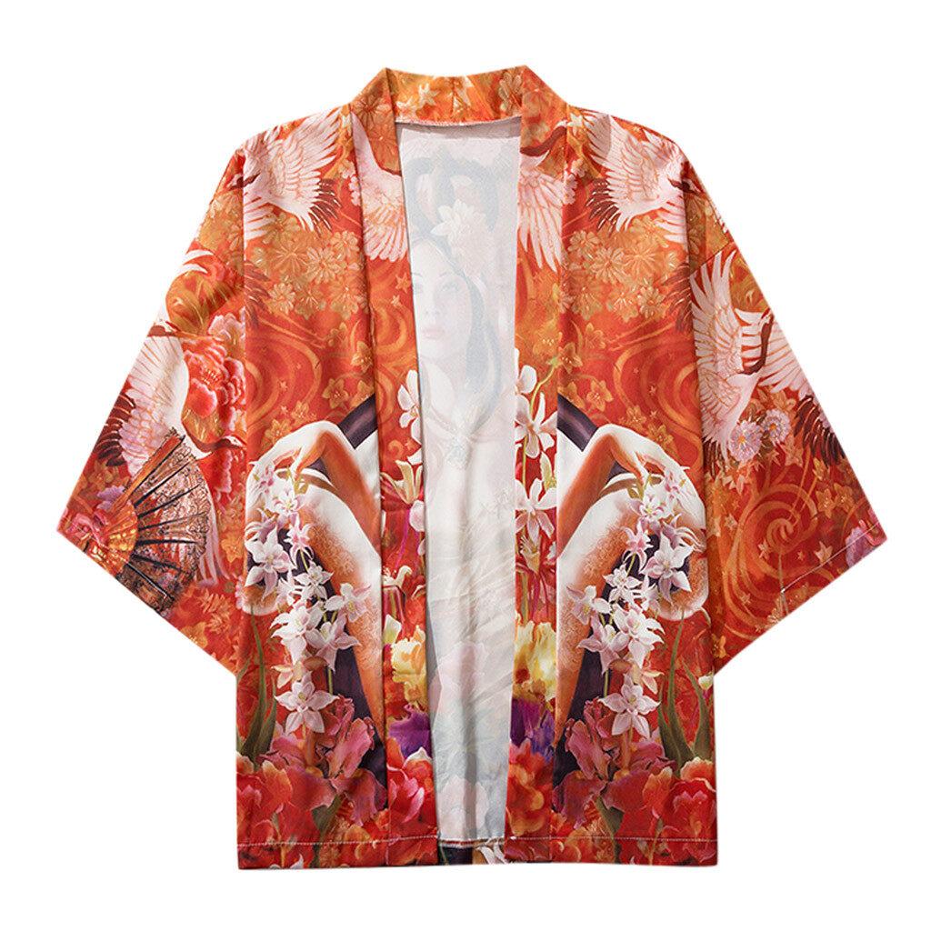 Joker Màu Cam Garnerstore Áo Thun Polo Nam Đơn Giản Mới, Áo Kimono Tay Lỡ Nhật Bản Mùa Hè 2021 Tay Áo Cổ Điển Thương Hiệu Hàn Quốc 44259 Áo Choàng Nam Nữ Áo Kiểu Jacke Polyester