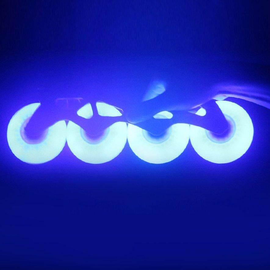 Mua Awins LED Flash Tốc Độ Bánh Xe Trượt Băng Giày Độ Cứng Phanh Bánh Xe Nội Tuyến Trượt Băng
