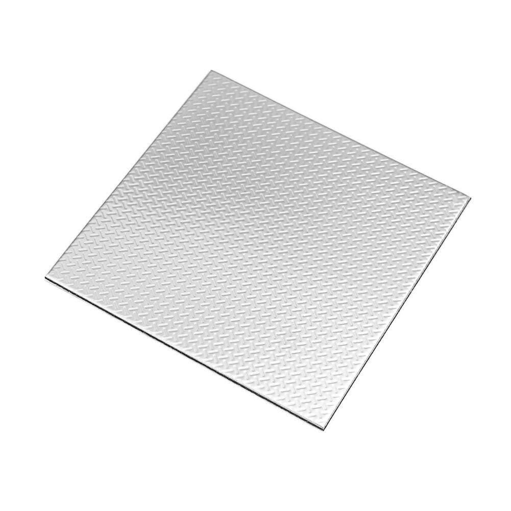 Ver Block Peel and Stick Stainless Steel DIY Interior Kitchen Wall Tile Backsplash Bathroom Tiles 10cm x 10cm Pack of 10