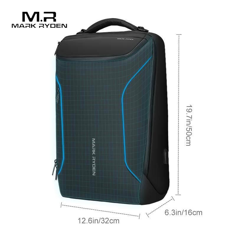 Mark Ryden 2019 nuevo Anti-thief moda hombres mochila multifuncional impermeable 15,6 pulgadas Portátil Bolsa hombre USB carga viaje bolsa