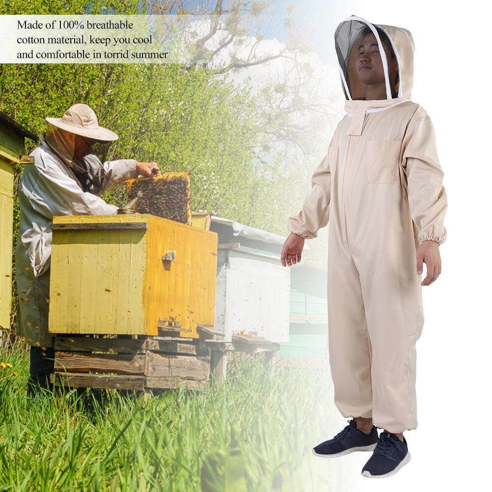 Professional Beekeeping Protective Full Body Jacket Smock Suit