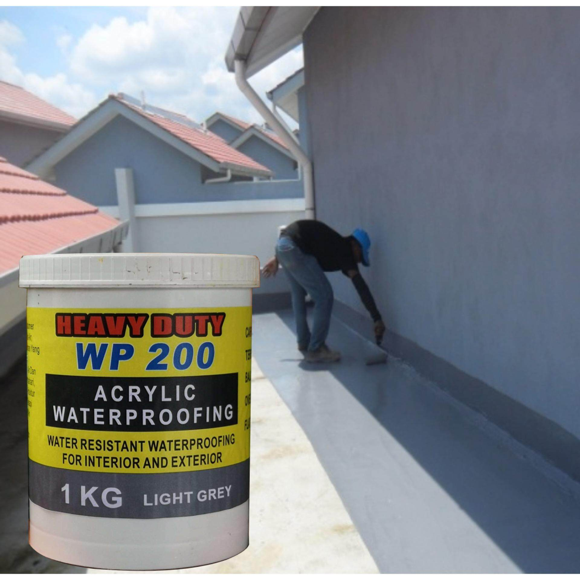IKG LIGHT GREY WP 200 ACRYLIC WATERPROOFING FLEX HEAVY DUTY WATER RESISTANT WATERPROOFING FOR INTERIOR AND EXTERIOR CARPARK PORCH TERRACES BALCONY OVERHANG FLATROOF