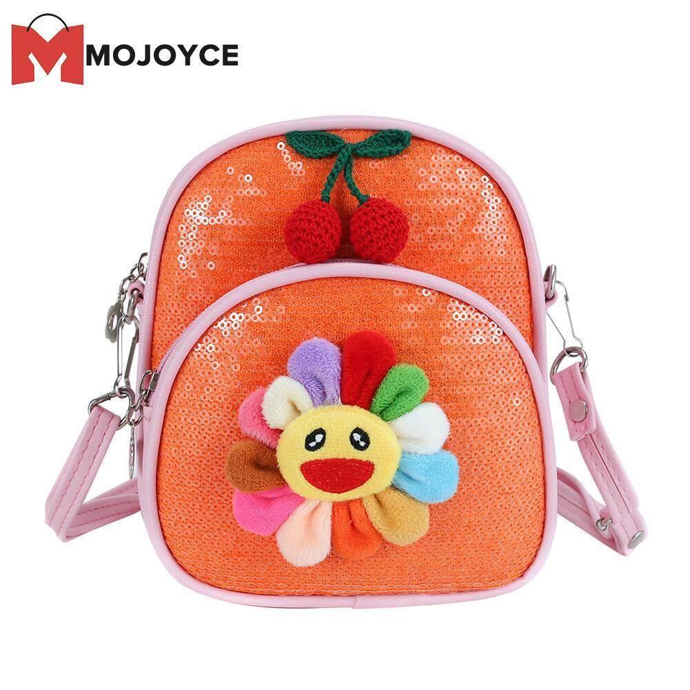 MOJOYCE Kids Cute Cartoon Sequin Schoolbag Sunflower Backpack Mini Crossbody Bags