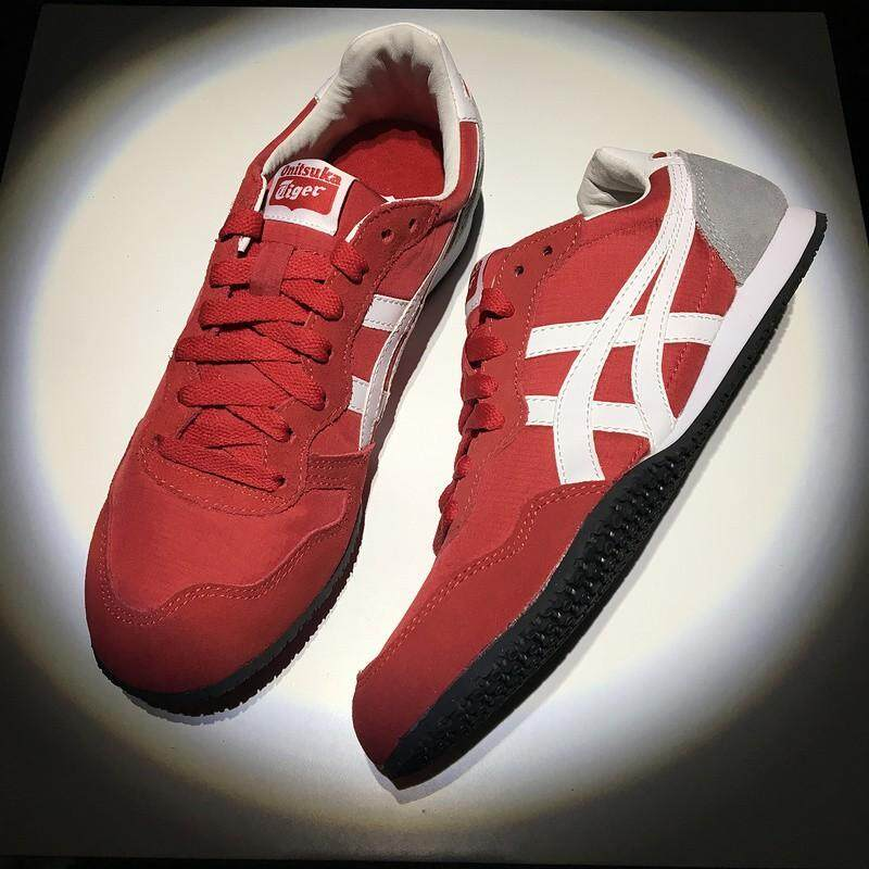 asics_Onitsuka_Tiger_鬼冢虎_SERRANO_red_grey_mens_low_top_sport_running_shoes_36-45