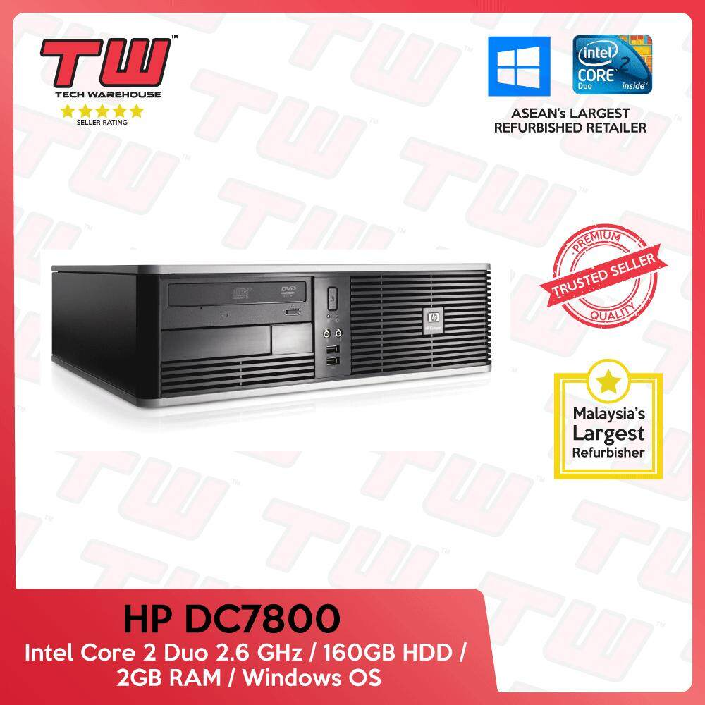 Hp Dc7800 C2d 2.6 / 2gb Ram / 160gb Hdd / Windows Os (sff) Desktop Pc / 3 Month Warranty (factory Refurbished) By Tech Warehouse.
