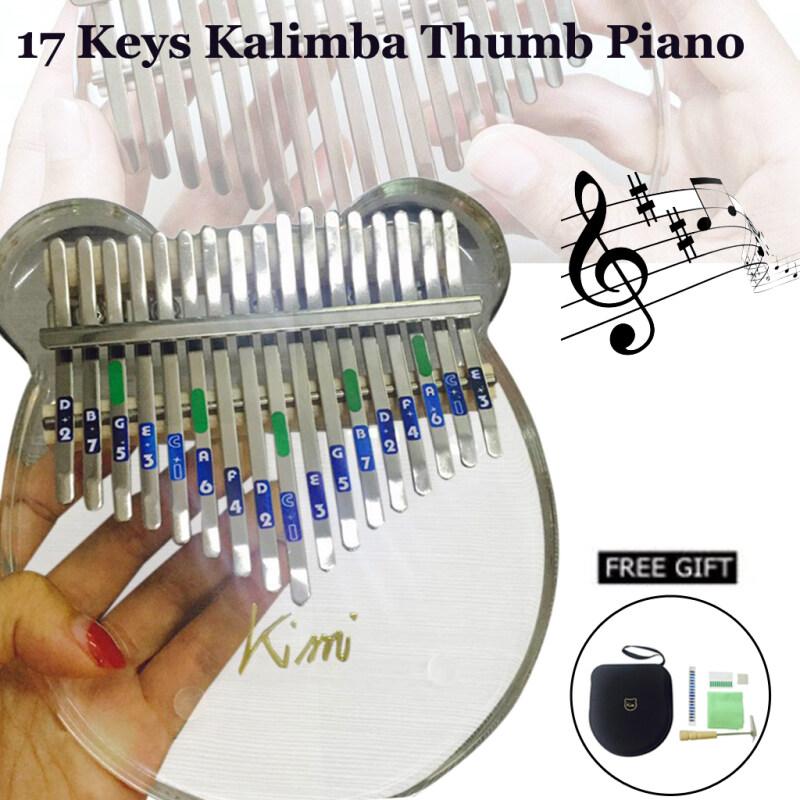 NEW!!! READY STOCK Blesiya  Kimi 17 Keys Thumb Piano Kalimba Acylic Clear Portable Beginner Piano Malaysia