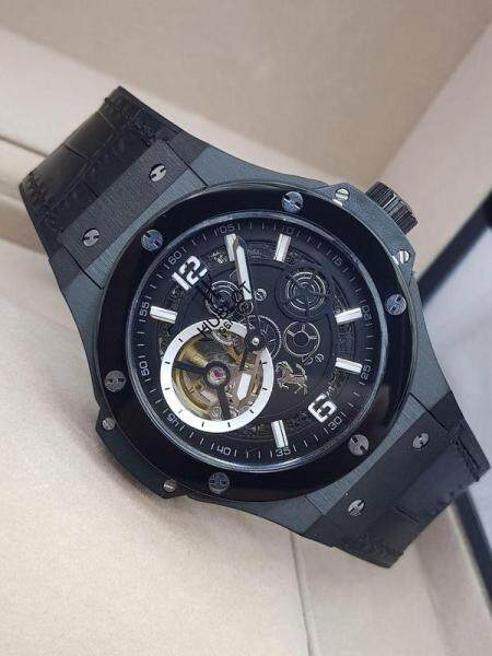 Free Shipping_HUBLOT_Watch Business Casual Big size Rubber Straps 42mm Water ResistantAutomatic movement  Watch for Men Malaysia