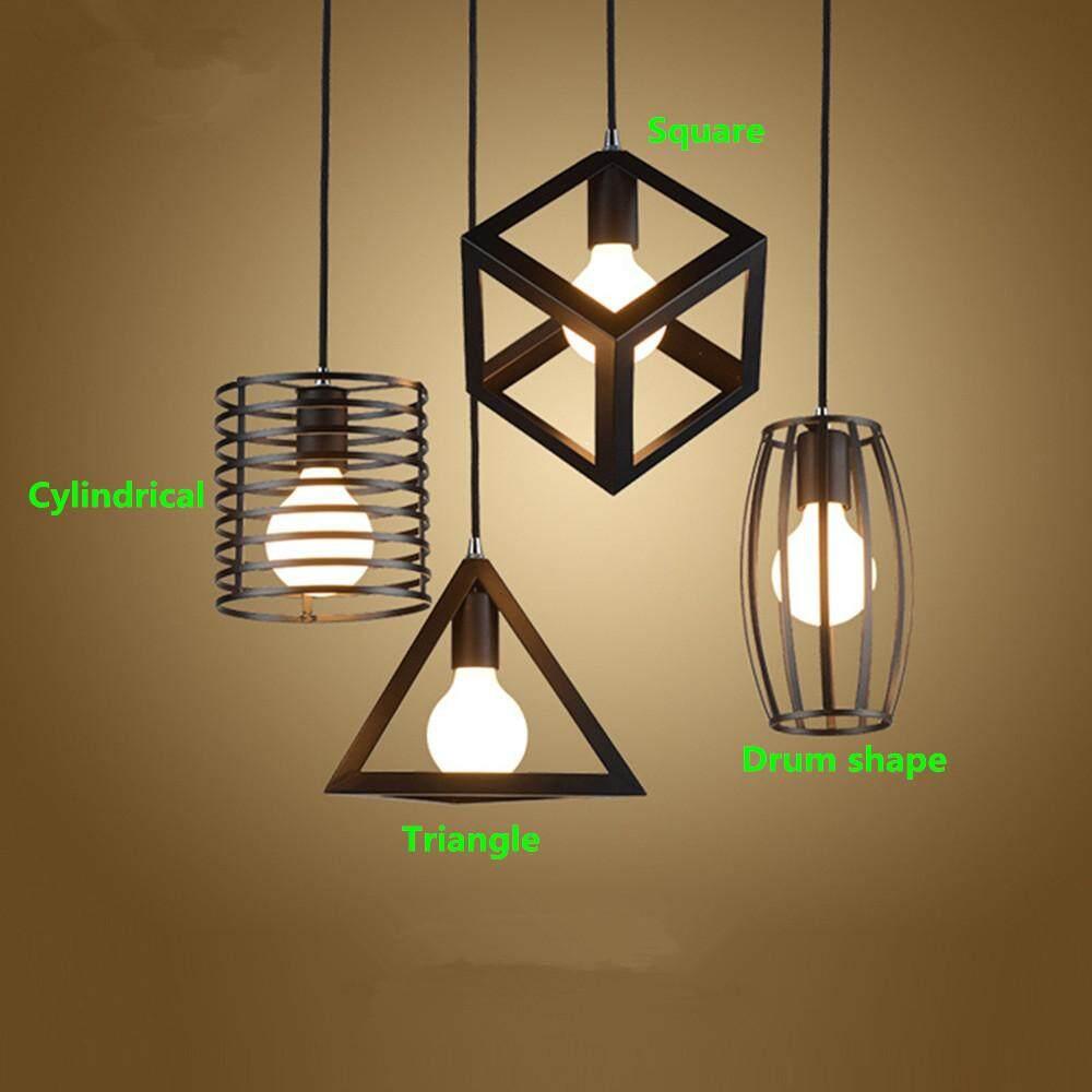 Black Metal Ceiling Pendant Light Rack Accessories for Home Bar Cafe Restaurant Decor E27 110-220V