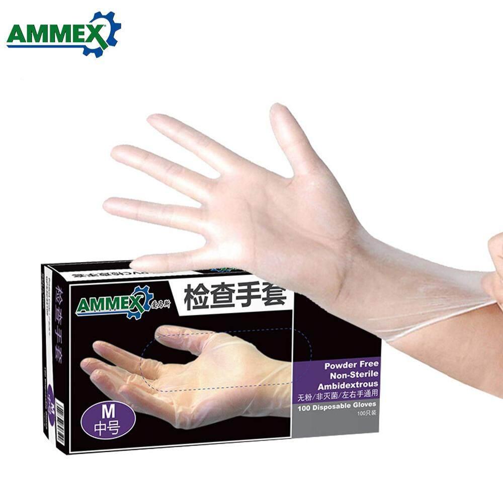 Ammex 100 Cái Thân Thiện Với Môi Trường Trong Suốt Dùng Một Lần Găng Tay Vệ Sinh Găng Tay Nhà Bếp Phục Vụ Ăn Uống Nướng Thực Phẩm Chế Biến Phụ Kiện