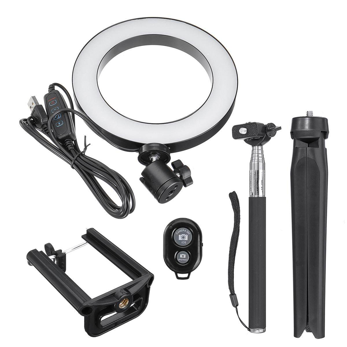6 inch LED Ring Light with Stand Lighting Kit 10 Level Brightness for Live