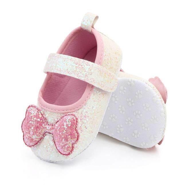 Đôi giày đế mềm kín mũi có thắt nơ phong cách công chúa cho bé gái sơ sinh Cutie Pie Store - INTL giá rẻ