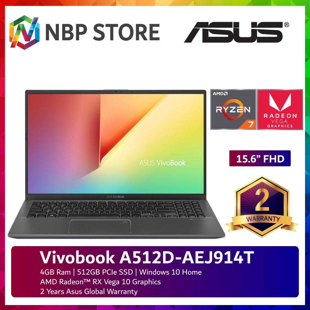 Asus Vivobook A512D-AEJ914T 15.6  FHD Laptop Slate Grey ( Ryzen 7-3700U, 4GB, 512GB SSD, ATI, W10 ) Malaysia